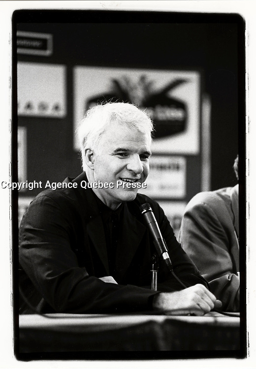 Montreal (Qc) CANADA - August 1994 File Photo - Steve Martin<br /> <br /> <br /> PHOTO :  Agence Quebec Presse