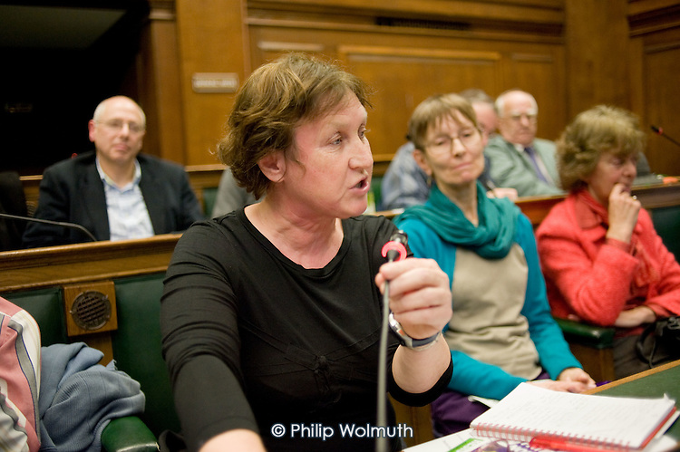 Public meeting called by Keep Our NHS Public to discuss action against the coalition government's NHS White Paper, Camden Town Hall, London.