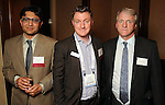 From left: Rohan Shams, Rene Power and Ross Fielding at the UK Energy Excellence reception at the Hilton Post Oak Hotel Monday April 30,2012. (Dave Rossman Photo)