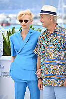 CANNES, FRANCE. July 13, 2021: Tilda Swinton & Bill Murray at the photocall for Wes Anderson's The French Despatch at the 74th Festival de Cannes.<br /> Picture: Paul Smith / Featureflash