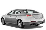 Rear three quarter view of a 2009 - 2014 Acura TL SH AWD Sedan.