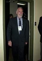 Montreal, March 28, 2001<br /> Canada Minister of Environment ; the Honorable David Anderson walk into a room before the opening plenary session of Americana 2001 in Montreal, CANADA, March 28, 2001<br /> <br /> Photo :   Pierre Roussel / AGENCE QUEBEC PRESSE