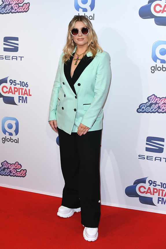 Ella Henderson<br /> at the 2019 Jingle Bell Ball, O2 Arena, London.<br /> <br /> ©Ash Knotek  D3544 08/12/2019