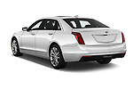 Car pictures of rear three quarter view of 2019 Cadillac CT6 Luxury 4 Door Sedan Angular Rear