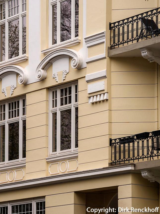 Gründerzeitviertel Haus, Curschmann Straße in Hamburg-Hoheluft-Ost, Deutschland, Europa<br /> tenement early 20th c. , Curschmann St. in Hamburg-Hoheluft-Ost, Germany, Europe