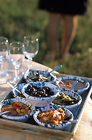 "Europe/Italie/Calabre/Filandari: Déjeuner sur l'herbe antipasti de l'auberge ""Frammiche"""