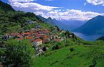 CHE, Schweiz, Tessin, Bergdorf Monte Bre oberhalb des Luganer Sees | CHE, Switzerland, Ticino, Mountain Village Monte Bre above Lago Lugano