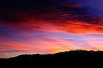 Red sunset near Colorado City, CO