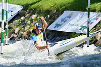 5th September 2021; Parc Olimpic del Segre, La Seu D'Urgell ICF Slalom World Cup, Women's Canoe Final;  winner Jessica Fox (AUS)