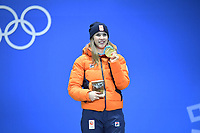 OLYMPIC GAMES: PYEONGCHANG: 23-02-2018, PyeongChang Medal Plaza, Short Track winner 1000m Ladies , Suzanne Schulting (NED), ©photo Fotopersburo Martin de Jong