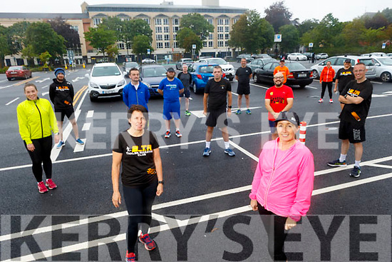 Members of Born To Run return to training on Tuesday evening. <br /> Front right: Cathy Jordan standing with Rose Brosnan.