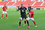 Guttau (HFC) gegen Rieder (FCK) beim Spiel in der 3. Liga, Hallescher FC - 1. FC Kaiserslautern.<br /> <br /> Foto © PIX-Sportfotos *** Foto ist honorarpflichtig! *** Auf Anfrage in hoeherer Qualitaet/Aufloesung. Belegexemplar erbeten. Veroeffentlichung ausschliesslich fuer journalistisch-publizistische Zwecke. For editorial use only. DFL regulations prohibit any use of photographs as image sequences and/or quasi-video.