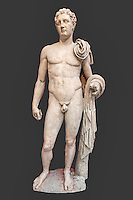 Marble statue of Atalante Hermes (2nd cent. A.D.) in National Museum, Greece