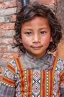 Bhaktapur, Nepal.  Little Girl.