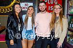 Enjoying the evening in Molly J's on Saturday, l to r: Shauna O'Flaherty, Colleen Shortland, Darragh Egan and Hazel Keane.