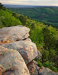 Petit Jean State Park, AR<br /> Cedar Creek Valley viewed from a sandstone outcrop at M.A. Ritcher overlook