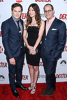HOLLYWOOD, CA - JUNE 15: Michael C. Hall, Jennifer Carpenter and David Nevins  arrive at the premiere screening of Showtime's 'Dexter' Season 8 at Milk Studios on June 15, 2013 in Hollywood, California. (Photo by Celebrity Monitor)