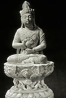 Chinese Buddhist Art:  Kuanyin--Goddess of Mercy, in marble. Tang Dynasty, 618-907.