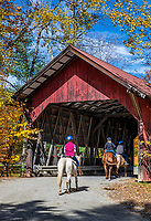 Brookdale Covered Bridge, Stowe, Vermont, USA.