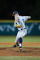 Xavier Musketeers relief pitcher Taylor Williams (8) in action against the Penn State Nittany Lions at Coleman Field at the USA Baseball National Training Center on February 25, 2017 in Cary, North Carolina. The Musketeers defeated the Nittany Lions 7-5 in game two of a double header. (Brian Westerholt/Four Seam Images)