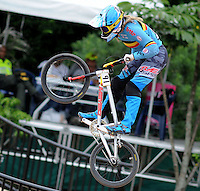 MEDELLIN- COLOMBIA -29-05-2016: Elke Vanhoof (BEL) durante su participación en la categoría elite mujeres en el marco del Campeonato Mundial de BMX 2016 que se realiza entre el 25 y el 29 de mayo de 2016 en la ciudad de Medellín. / Elke Vanhoof (BEL) during her performance in the women elite's categories as part of the 2016 BMX World Championships to be held between 25 and 29 May 2016 in the city of Medellin. Photo: VizzorImage / Cristian Alvarez / CONT