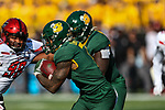 Baylor Bears running back John Lovett (7) in action during the game between the Texas Tech Red Raiders and the Baylor Bears at the McLane Stadium in Waco, Texas.
