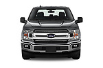 Car photography straight front view of a 2020 Ford F-150 XLT 4 Door Pick Up