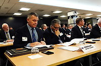Horowhenua Kapiti chief executive Corey Kennett (left) and chair John Cribb. The 2021 New Zealand Rugby Annual General Meeting at the New Zealand Rugby House in Wellington, New Zealand on Thursday, 29 April 2021. Photo: Dave Lintott / lintottphoto.co.nz