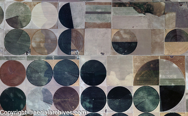aerial photo of crop circles in Edwards County, Kansas