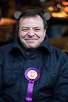 © Joel Goodman - 07973 332324 . 20/11/2014 . Kent , UK . UKIP donor ARRON BANKS on High Street , Rochester . The Rochester and Strood by-election campaign following the defection of sitting MP Mark Reckless from Conservative to UKIP . Photo credit : Joel Goodman