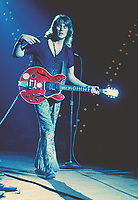 """BNPS.co.uk (01202 558833)<br /> Pic: BarryLevine/Guernseys/BNPS<br /> <br /> !!!ONE TIME USE ONLY!!! PICS ONLY TO BE USED IN RELATION TO THE AUCTION!!!<br /> <br /> Pictured: Tens Years After lead guitarist Alvin Lee.<br /> <br /> A photo collection offering a rare glimpse of the iconic Woodstock Festival has sold for over £12,000.<br /> <br /> The unique Levine series captured some of the world's most famous rock stars performing at the one-of-a-kind festival in Bethel, New York, in August 1969, including Jimi Hendrix, Janis Joplin, The Who, and Neil Young.<br /> <br /> Barry Levine, now 77, brushed shoulders with many of his subjects, recalling Hendrix's """"amazing sense of humour"""" and Young's disdain for photographers from his home in Florida."""