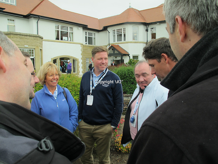 \\ meets executives and guests from one of his sponsors, Barracuda after his third round of the 2015 Dubai Duty Free Irish Open. The Dubai Duty Free Irish Open is being Hosted by The Rory Foundation over the links at Royal County Down Golf Club, Newcastle Co Down, Northern Ireland from 28th to 31st May 2015 : Picture \\, \#2\: 30-May-15