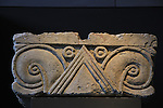 A royal capital from Ramat Rachel, 7th century BC, limestone, on display at the Israel Museum