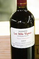 Cuvee de la Cadette 2004, Fitou. Domaine les Milles Vignes. Fitou. Languedoc. France. Europe. Bottle.