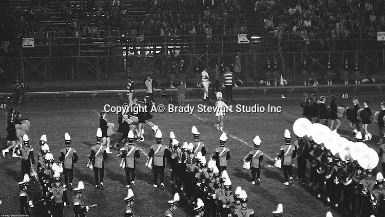 Bethel Park PA:  Bethel Park Band, Majorettes, and Bethettes performing during Senior Night at Bethel Park High School Football field.