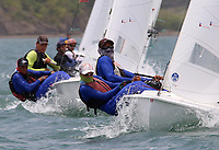 BARRANQUILLA - COLOMBIA, 24-07-2018: Equipo de Cuba durante su participación en las competencias de Vela hombres como parte de los Juegos Centroamericanos y del Caribe Barranquilla 2018. /  Cuba team during his participation in the competitions of men's sailing as a part of the Central American and Caribbean Sports Games Barranquilla 2018. Photo: VizzorImage / Cont