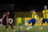 13th November 2020; Morumbi Stadium, Sao Paulo, Sao Paulo, Brazil; World Cup 2022 qualifiers; Brazil versus Venezuela;  Renan Lodi of Brazil and Darwin Machís of Venezuela