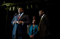 Trayvon Martin family with Doreen Lawrence 11-5-12