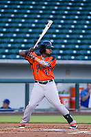 AZL Giants third baseman Nathanael Javier (47) at bat against the AZL Cubs on July 17, 2017 at Sloan Park in Mesa, Arizona. AZL Giants defeated the AZL Cubs 12-7. (Zachary Lucy/Four Seam Images)