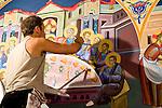 St. Sava frescos by Miloje Milinkovic´..Miloje painting the Last Supper
