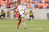 Houston, TX - Sunday Oct. 09, 2016: Francisca Ordega, Alanna Kennedy during the National Women's Soccer League (NWSL) Championship match between the Washington Spirit and the Western New York Flash at BBVA Compass Stadium. The Western New York Flash win 3-2 on penalty kicks after playing to a 2-2 tie.