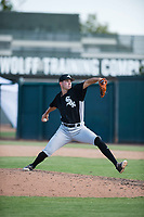 Chicago White Sox relief pitcher Lane Ramsey (44) delivers a pitch during an Instructional League game against the Oakland Athletics at Lew Wolff Training Complex on October 5, 2018 in Mesa, Arizona. (Zachary Lucy/Four Seam Images)