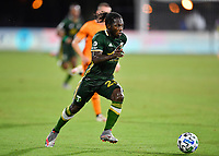 LAKE BUENA VISTA, FL - JULY 18: Yimmi Chará #23 of the Portland Timbers looks to take the ball to goal during a game between Houston Dynamo and Portland Timbers at ESPN Wide World of Sports on July 18, 2020 in Lake Buena Vista, Florida.