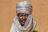 Hausa Man  portrait from the Durbar in Argungu (Sallah Celebration )