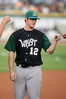 June 17th 2008:  Spencer Steedley of the Beloit Snappers, Class-A affiliate of the Minnesota Twins, during the Midwest League All-Star Game at Dow Diamond in Midland, MI.  Photo by:  Mike Janes/Four Seam Images