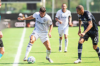 LAKE BUENA VISTA, FL - JULY 9: Anthony Fontana #21 of the Philadelphia Union dribbles the ball during a game between New York City FC and Philadelphia Union at Wide World of Sports on July 9, 2020 in Lake Buena Vista, Florida.