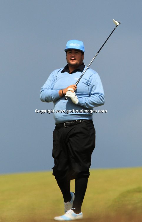 Joel Sjoholm (SWE) during the third round of the 2012 Aberdeen Asset Management Scottish Open being played over the links at Castle Stuart, Inverness, Scotland from 12th to 15th July 2012:  Stuart Adams www.golftourimages.com:14th July 2012