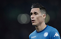 Calcio, Serie A: Roma, stadio Olimpico, 14 ottobre 2017.<br /> Napoli's José Maria Callejon reacts during the Italian Serie A football match between Roma and Napoli at Rome's Olympic stadium, October14, 2017.<br /> UPDATE IMAGES PRESS/Isabella Bonotto