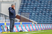 Nottingham Forest manager Chris Hughton cleans his glasses during a break in play<br /> <br /> Photographer Alex Dodd/CameraSport<br /> <br /> The EFL Sky Bet Championship - Blackburn Rovers v Nottingham Forest - Saturday 17th October 2020 - Ewood Park - Blackburn<br /> <br /> World Copyright © 2020 CameraSport. All rights reserved. 43 Linden Ave. Countesthorpe. Leicester. England. LE8 5PG - Tel: +44 (0) 116 277 4147 - admin@camerasport.com - www.camerasport.com
