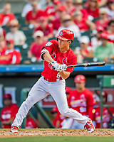 28 February 2019: St. Louis Cardinals top prospect infielder Tommy Edman at bat during a Spring Training game against the New York Mets at Roger Dean Stadium in Jupiter, Florida. The Mets defeated the Cardinals 3-2 in Grapefruit League play. Mandatory Credit: Ed Wolfstein Photo *** RAW (NEF) Image File Available ***
